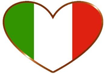 Valentines Day Italian Flag Heart